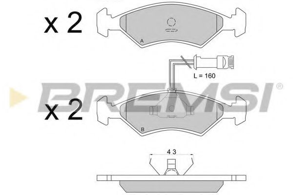 Колодки тормозные передние Escort 81-90/Fiesta 81-02 (ATE)  арт. BP2163