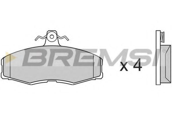 Тормозные колодки перед. Ford Sierra 82-93/Skoda Felicia 94-02 (TRW)  арт. BP2208