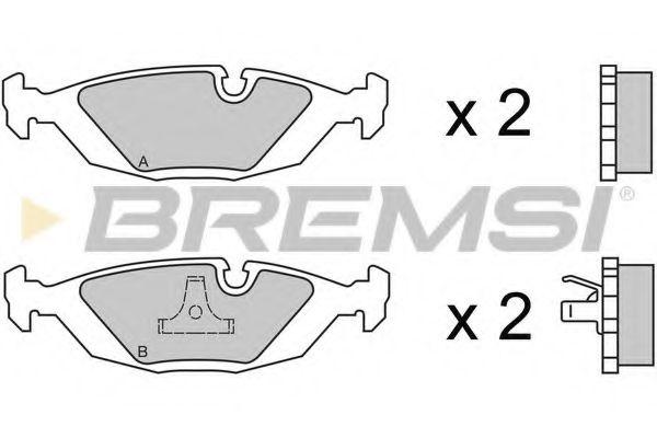 Колодки тормозные задние BMW 5(E34)/ 7(E32) (ATE)  арт. BP2236
