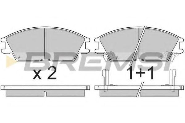 Тормозные колодки перед. Hyundai Accent/Getz 94-10  арт. BP2293