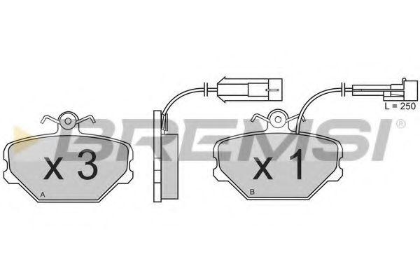 Тормозные колодки перед. Fiat Tempra/Tipo/Uno 88-96  арт. BP2375