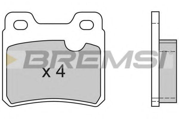 Тормозные колодки зад. Opel Vectra A (ATE)  арт. BP2418