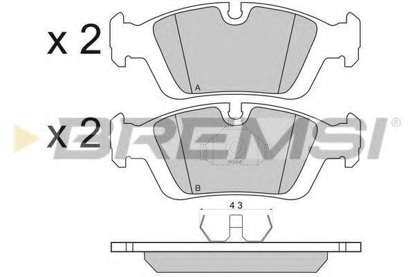 Колодки тормозные передние BMW 3 (E36/E46) 94-07 (ATE)  арт. BP2432