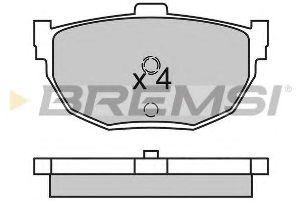Колодки тормозные задние Hyundai Elantra 00-06 (sumitomo)  арт. BP2447