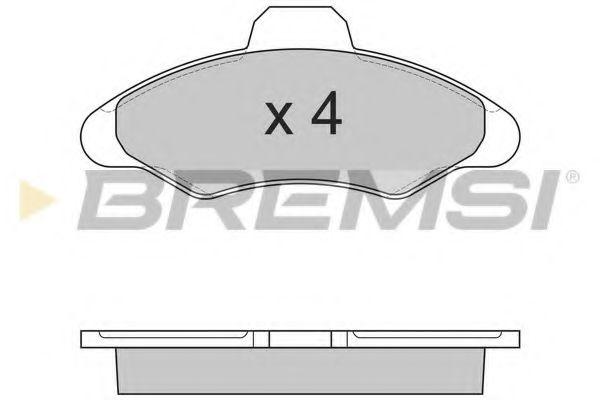 Тормозные колодки перед. Ford Escort/Fiesta 90-02  арт. BP2462