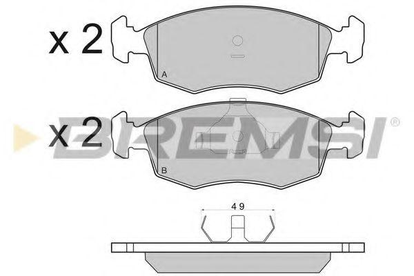 Колодки тормозные передние Ford Escort/Sierra 84-99 (ATE)  арт. BP2499