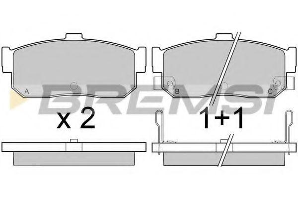 Колодки тормозные задние Nissan Almera 95-00/Maxima 00-03  арт. BP2513