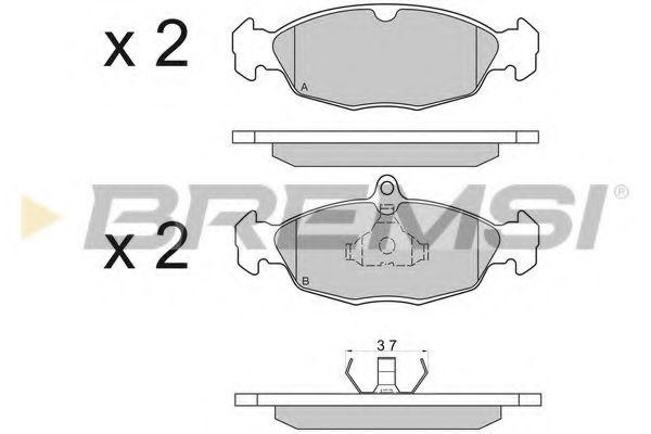 Колодки тормозные передние Astra F/Combo 91-01 (ATE)  арт. BP2520