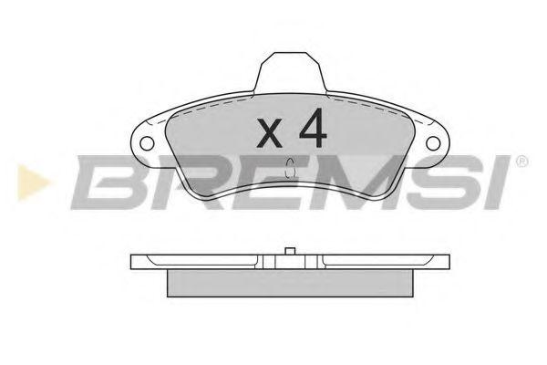 Колодки тормозные задние Ford Mondeo 93-00 (Bendix) с датчиком (115,8x53,7x15)  арт. BP2562