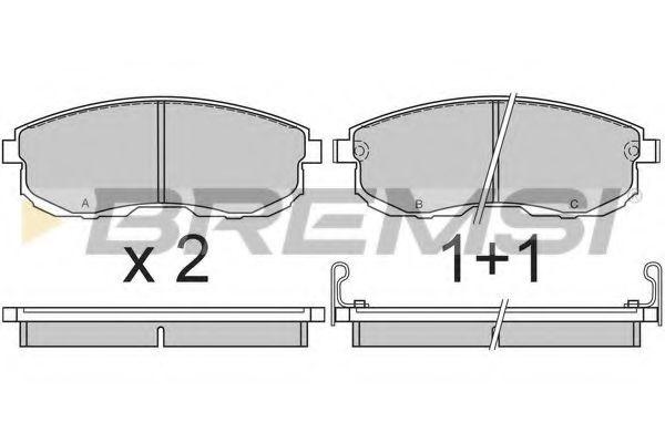 Колодки тормозные передние Nissan Maxima 88-00 (sumitomo)  арт. BP2569