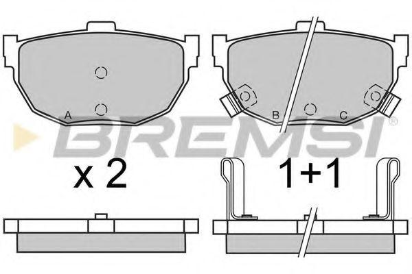 Колодки тормозные задние Hyundai Elantra 00-06/Kia Cerato 04- (sumitomo)  арт. BP2570
