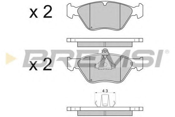 Тормозные колодки перед. Vectra A/Omega B 92-05 (ATE)  арт. BP2585