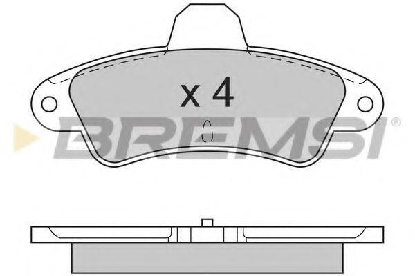 Колодки тормозные задние Ford Mondeo 93-00 (Bendix) без датчика (115,8x53,7x15)  арт. BP2593