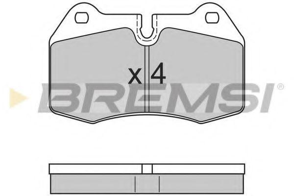 Колодки тормозные передние BMW 5(E39)/7(E38) 96-04 (brembo)  арт. BP2660