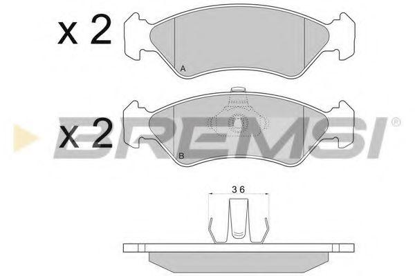 Колодки тормозные передние Ford Fiesta 89-02 (ATE)  арт. BP2671