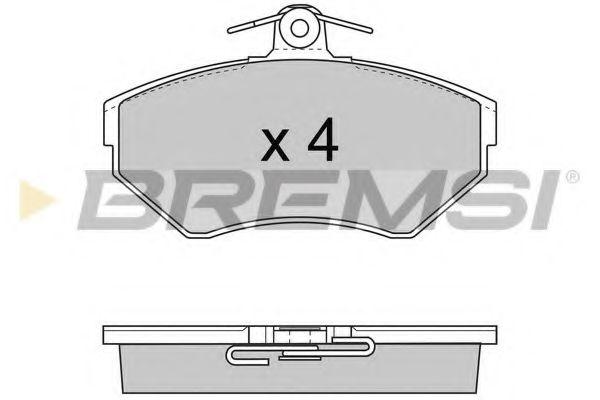 Тормозные колодки перед. AUDI A4/SEAT CORDOBA/VW PASSAT 1.6-1.9DH 94-02 (TRW)  арт. BP2674
