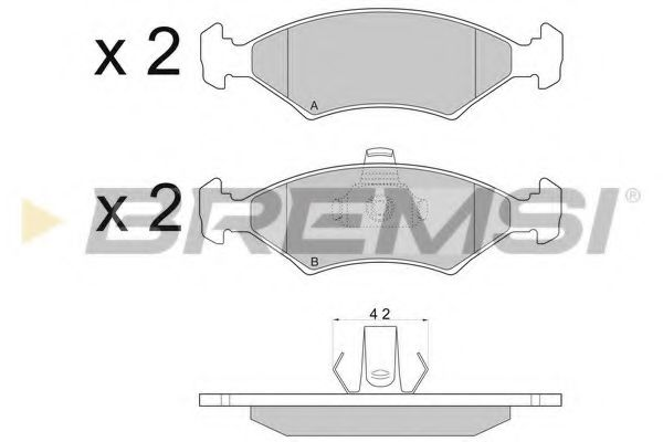 Колодки тормозные передние Ford Escort/Fiesta/Sierra 81-02 (ATE)  арт. BP2675