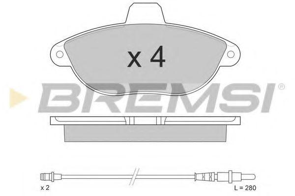 Тормозные колодки перед. Jumpy/Scudo/Expert 96- (Bendix)  арт. BP2678