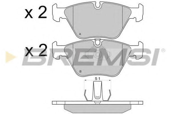 Тормозные колодки перед BMW 5 (E39) 2.0-3.5i 95-03  арт. BP2685