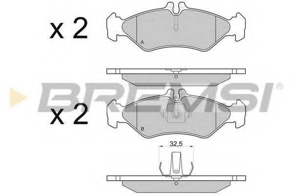 Тормозные колодки зад. Sprinter 208-216 96-06 (ATE)  арт. BP2688