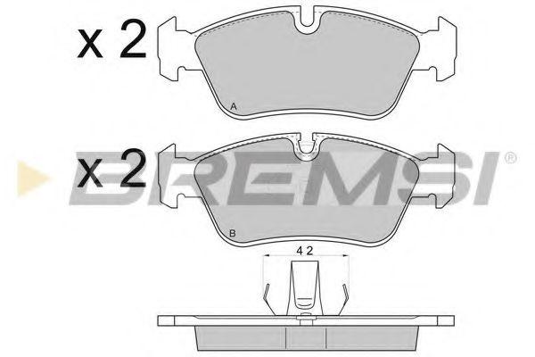 Тормозные колодки передние BMW 3 (E36/E46) 90-09 (ATE)  арт. BP2745