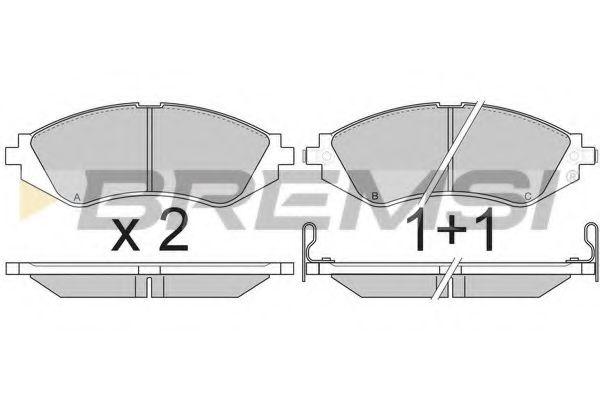 Тормозные колодки перед. Lacetti/Nubira 97- (Akebomo)  арт. BP2803