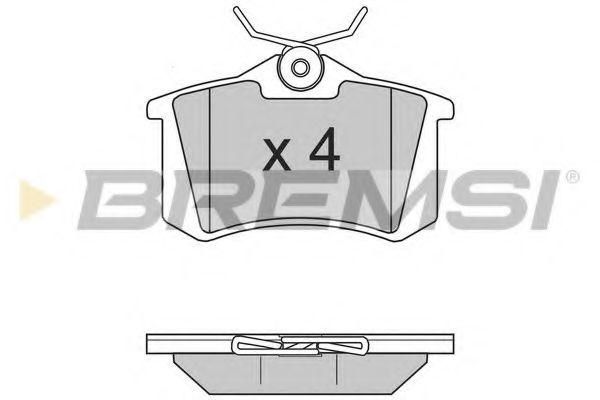 Тормозные колодки зад. Caddy/Golf/Octavia (TRW)  арт. BP2806