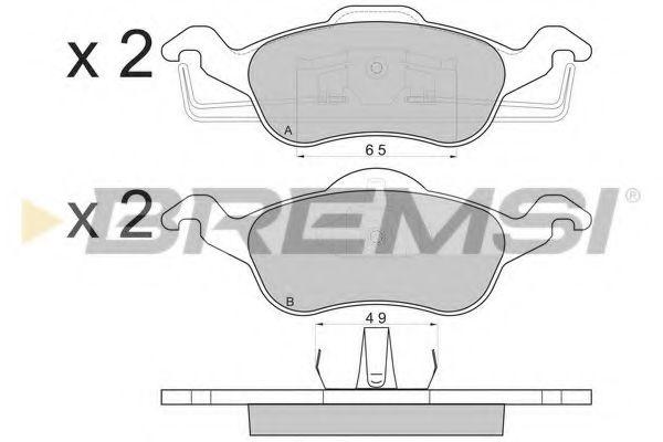 Тормозные колодки перед. Ford Focus 98-04 (ATE)  арт. BP2824
