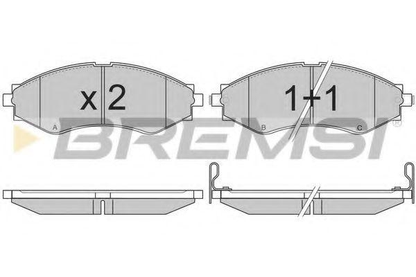 Тормозные колодки перед. Daewoo Nubira/Chevrolet Epica 97- (Akebono) (143x51,5x16,8)  арт. BP2834