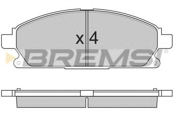 Тормозные колодки перед. Nissan X-Trail 01-13/Pathfinder 97-04 (sumitomo) (159x55,9x16)  арт. BP2857