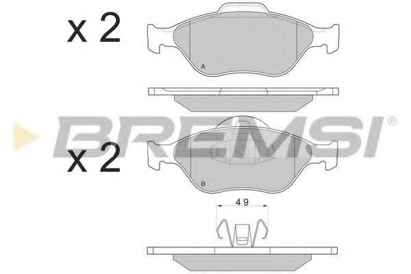 Тормозные колодки перед. Fiesta 96-08/Fusion 02-12 (ATE) (61,5x152x18,5)  арт. BP2872