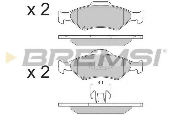 Тормозные колодки перед. Fiesta IV 95-03 (ATE) (54,5x151x18,5)  арт. BP2873