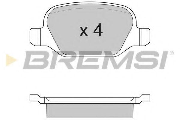 Тормозные колодки перед. Fiat Linea 07-/Lybra 99-  арт. BP2890