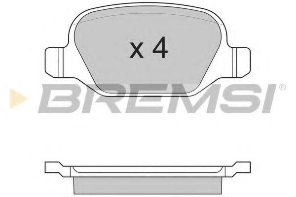 Колодки тормозные задние Doblo 01- (TRW)  арт. BP2891