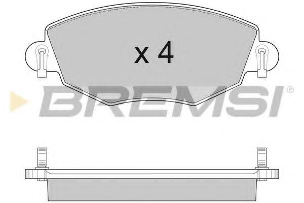 Тормозные колодки перед. Mondeo III/Jaguar X-TYPE 00- (Bosch)  арт. BP2926