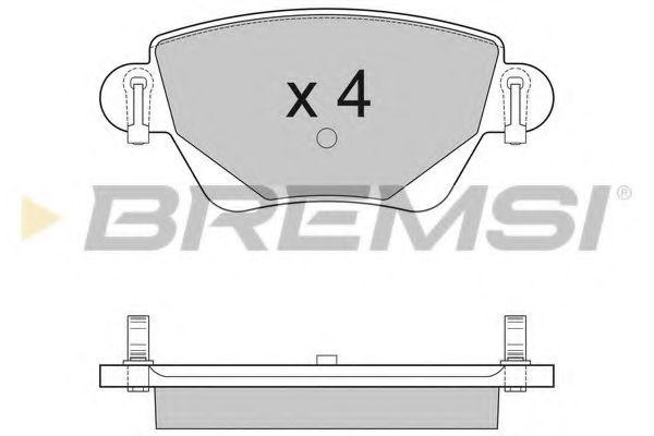 Тормозные колодки зад. Kangoo 4x4/Mondeo III 01- (Bosch)  арт. BP2927