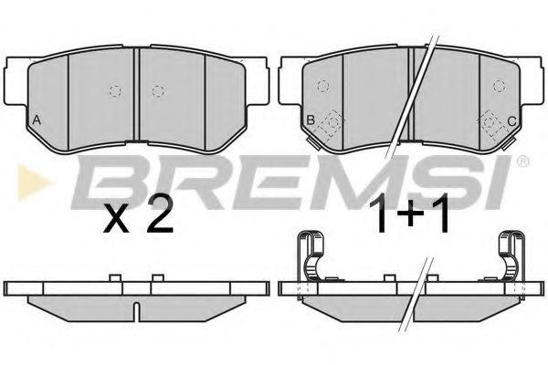 Колодки тормозные задние Hyundai Getz/Santa FE/Tucson 01- (mando)  арт. BP2966