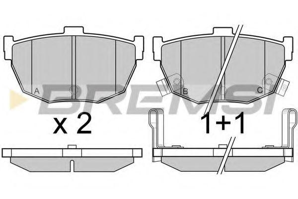 Колодки тормозные задние Hyundai Accent 94-05 (sumitomo)  арт. BP2967