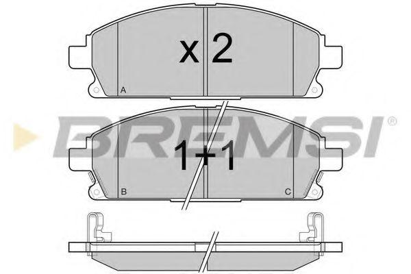 Колодки тормозные передние Nissan X-Trail 01-13/Pathfinder 97-04 (sumitomo) (159x56x16,4)  арт. BP2968