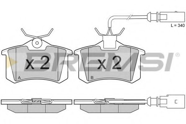 Колодки тормозные задние Sharan/Galaxy/Alhambra 97-10 (TRW)  арт. BP3006