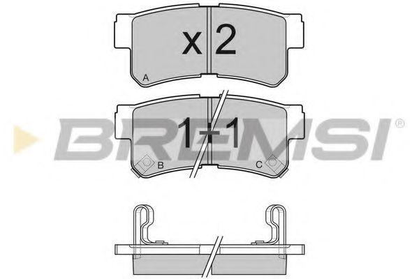 Тормозные колодки зад. Hyundai Tucson 04-10/Kia Sportage 04- (mando)  арт. BP3043