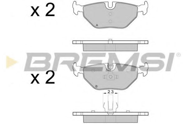 Тормозные колодки задние BMW 3 (E46)/SAAB 9-5/ROVER 75 96-09 (ATE) (123,1x45x17)  арт. BP3051