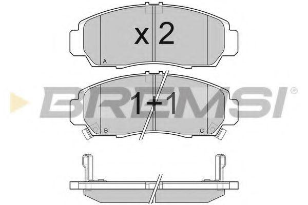 Колодки тормозные передние Honda Accord 91-03/HR-V 99- (sumitomo)  арт. BP3083