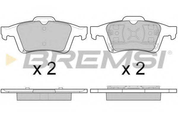 Колодки тормозные задние Ford Focus II/C-Max 03-12 (ATE)  арт. BP3091