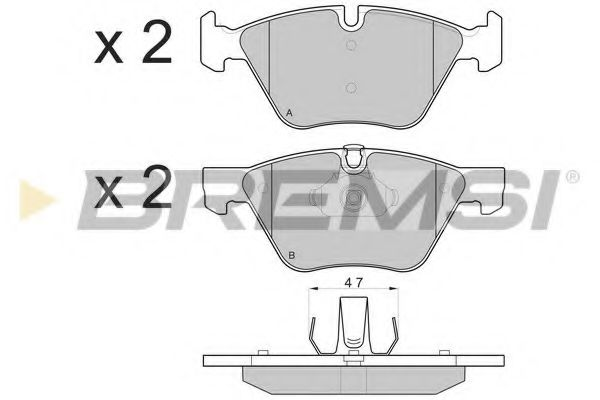 Колодки тормозные передние BMW 3(E90)/1(E81) 04-13 (ATE) (154,8x63,6x20)  арт. BP3108