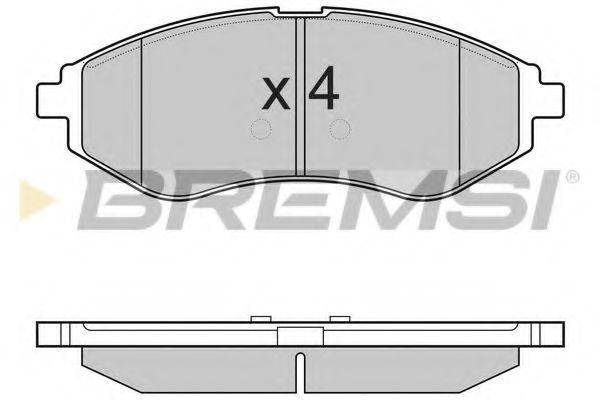 Тормозные колодки перед. Chevrolet Aveo 06- (akebono)  арт. BP3111