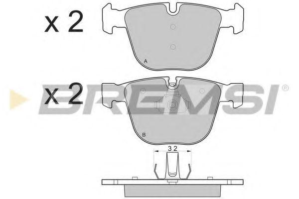 Колодки тормозные передние BMW 5 (E60)/7 (E65) 02-10 (ATE)  арт. BP3115