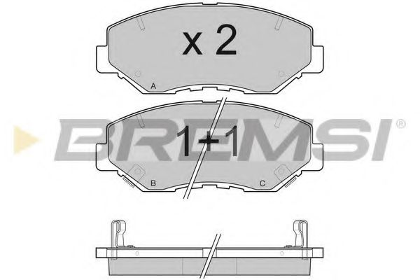 Колодки тормозные передние Honda Accord 03-08/CR-V 01-06 (akebono)  арт. BP3117