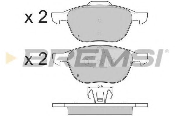 Тормозные колодки перед. Focus/C-Max/Kuga 03-  арт. BP3133
