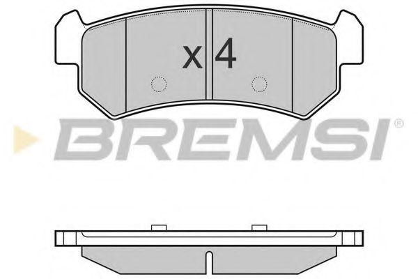 Тормозные колодки зад. Chevrolet Lacetti 05- (akebono)  арт. BP3148
